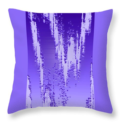 Moveonart! Digital Gallery Throw Pillow featuring the digital art Moveonart Dream Research One by Jacob Kanduch
