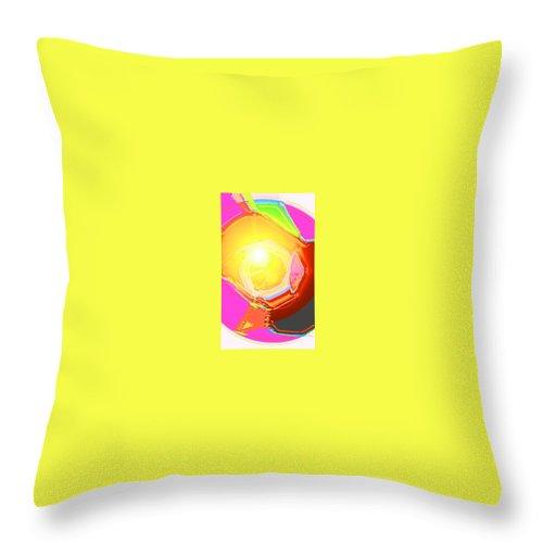 Moveonart! Digital Gallery Throw Pillow featuring the digital art Moveonart Enlightened Artistic Society by Jacob Kanduch