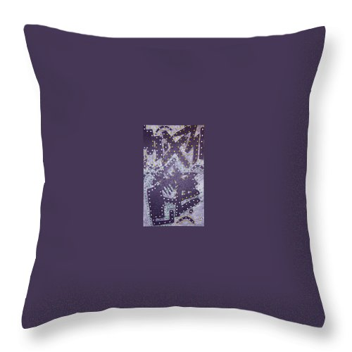 Moveonart! Digital Gallery Throw Pillow featuring the painting Moveonart Ex Communicated by Jacob Kanduch