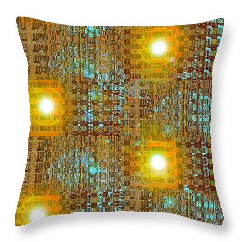 Moveonart! Digital Gallery Throw Pillow featuring the digital art Moveonart Eye And Light Engagement Two by Jacob Kanduch