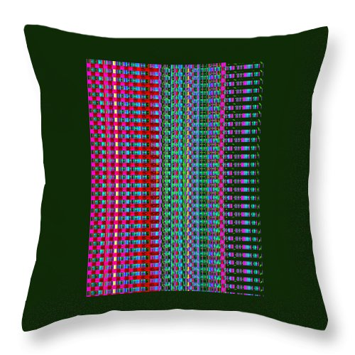 Moveonart! Digital Gallery Throw Pillow featuring the digital art MoveOnArt Eye Color Therapy One by Jacob Kanduch