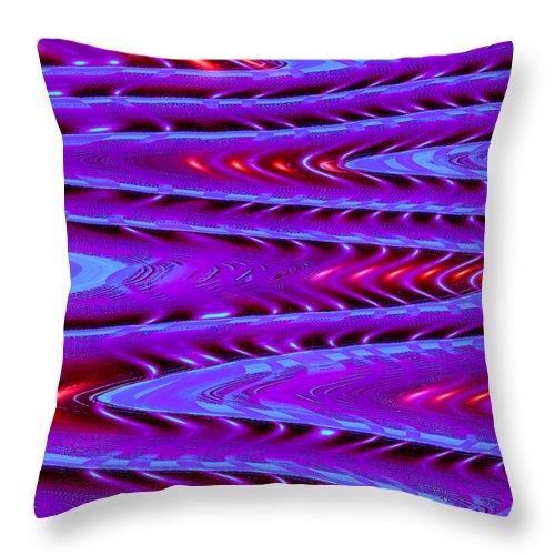 Moveonart! Digital Gallery Throw Pillow featuring the digital art Moveonart Future Texture Now One by Jacob Kanduch