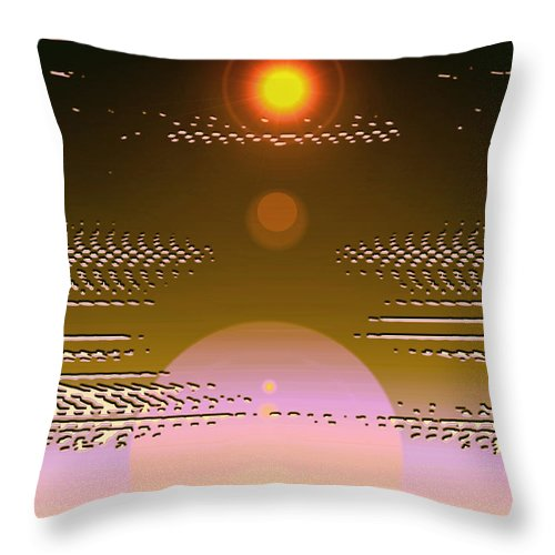 Moveonart! Digital Gallery Throw Pillow featuring the digital art Moveonart In Light Of Believing by Jacob Kanduch