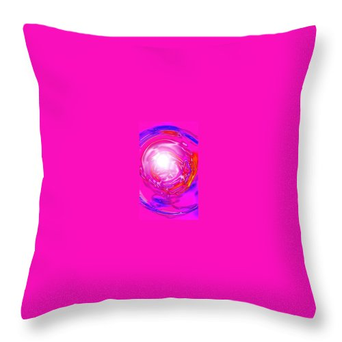 Moveonart! Digital Gallery Throw Pillow featuring the digital art Moveonart In Light Of The Matter by Jacob Kanduch