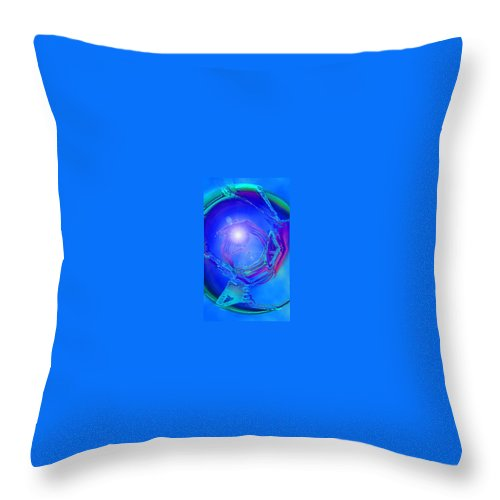 Moveonart! Digital Gallery Throw Pillow featuring the digital art Moveonart In Light Of The One Moment Time Out by Jacob Kanduch