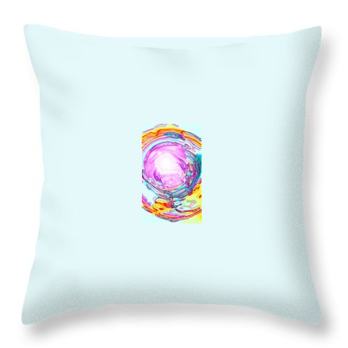 Moveonart! Digital Gallery Throw Pillow featuring the digital art Moveonart In Light We Trust by Jacob Kanduch
