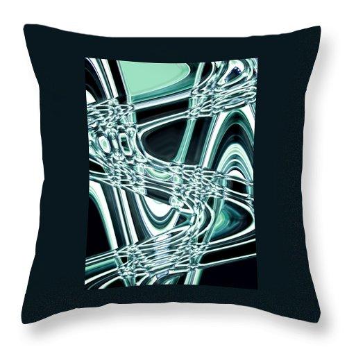 Moveonart! Digital Gallery Throw Pillow featuring the digital art Moveonart Intentionally Abstract Movement by Jacob Kanduch