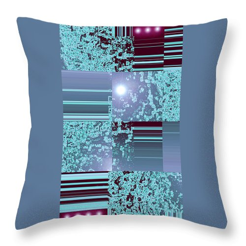 Moveonart! Digital Gallery Throw Pillow featuring the digital art Moveonart Inter Dimensional Shift Three by Jacob Kanduch