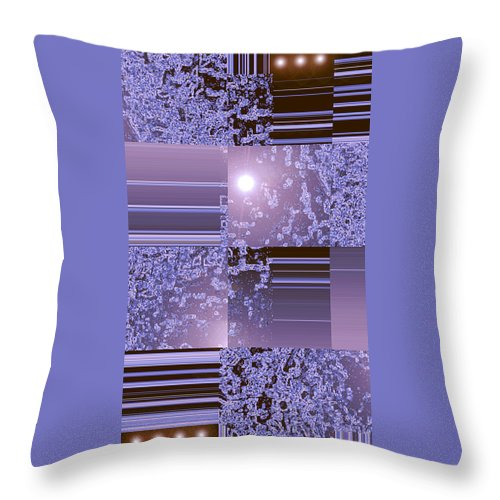 Moveonart! Digital Gallery Throw Pillow featuring the digital art Moveonart Inter Dimensional Shift Two by Jacob Kanduch