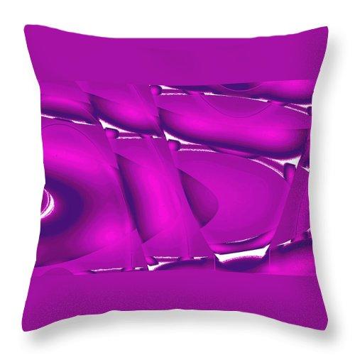 Moveonart! New York / San Francisco / Oklahoma / Portland / Missoula Jacob Kanduch Throw Pillow featuring the digital art Moveonart Inverted Waves Bubbles And Light In Violet 2 by Jacob Kanduch