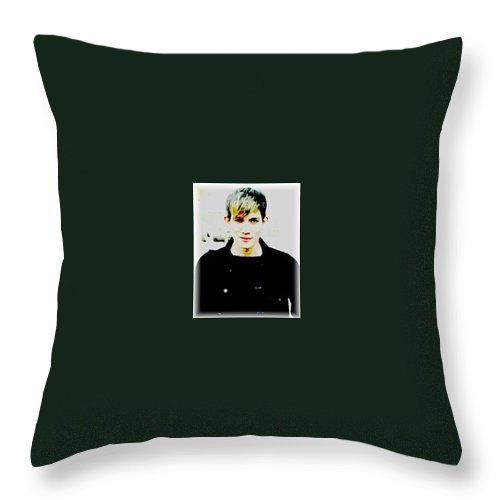 Moveonart! Throw Pillow featuring the digital art Moveonart Jacob In Paris by Jacob Kanduch
