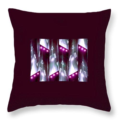 Moveonart! Digital Gallery Throw Pillow featuring the digital art Moveonart Jacobs Angels by Jacob Kanduch