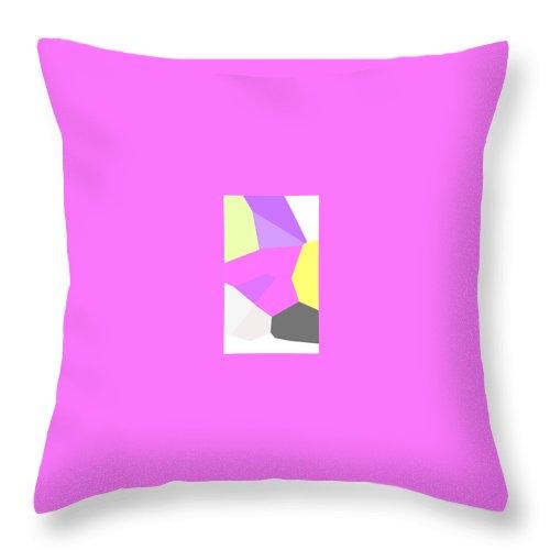 Moveonart! Digital Gallery Throw Pillow featuring the digital art Moveonart Just Minimal One by Jacob Kanduch