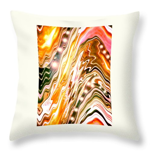 Moveonart! Digital Gallery Throw Pillow featuring the digital art Moveonart Letting Go Three by Jacob Kanduch