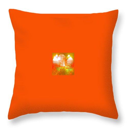 Moveonart! Digital Gallery Throw Pillow featuring the digital art Moveonart Life Revelation by Jacob Kanduch