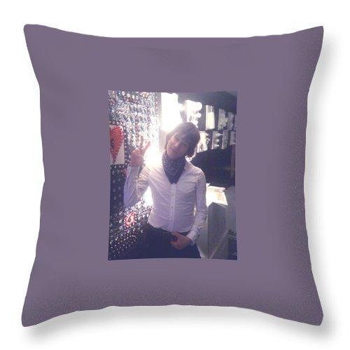 Moveonart! Digital Gallery Throw Pillow featuring the digital art Moveonart Light Love Peace Art by Jacob Kanduch