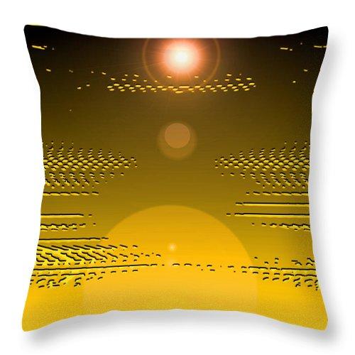 Moveonart! Digital Gallery Throw Pillow featuring the digital art Moveonart Light Rise In The Darkness by Jacob Kanduch