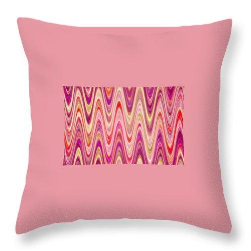 Moveonart! Digital Gallery Throw Pillow featuring the digital art Moveonart Lively Waves Of Joy by Jacob Kanduch