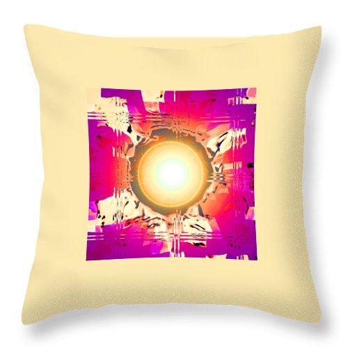 Moveonart! Digital Gallery Throw Pillow featuring the digital art MoveOnArt May This Gift Of Light Help You Along Lifes Way by Jacob Kanduch