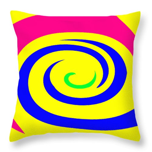 Moveonart! Global Gathering. -- Digital Abstract Art By Jacob Kane -- Omnetra Throw Pillow featuring the digital art Moveonart Movecolormove by Jacob Kanduch