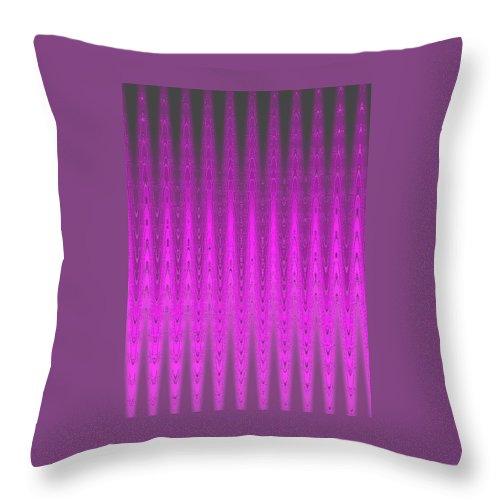 Moveonart! Digital Gallery Throw Pillow featuring the digital art Moveonart Mysterious Violet Curtain by Jacob Kanduch