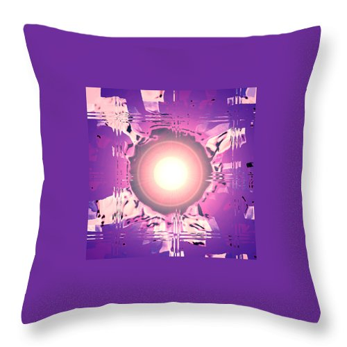 Moveonart! Digital Gallery Throw Pillow featuring the digital art Moveonart Oh Is That So  Violet by Jacob Kanduch