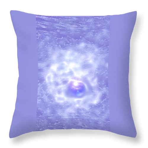 Moveonart! Digital Gallery Throw Pillow featuring the digital art Moveonart One Last Bit Of Hope by Jacob Kanduch