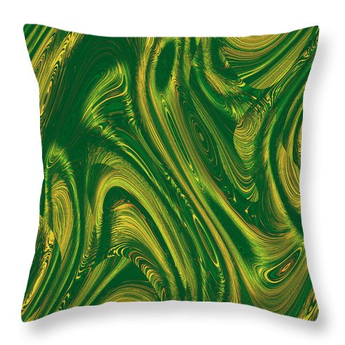Moveonart! Digital Gallery Throw Pillow featuring the digital art MoveOnArt Opportunity WithIn Chaos by Jacob Kanduch