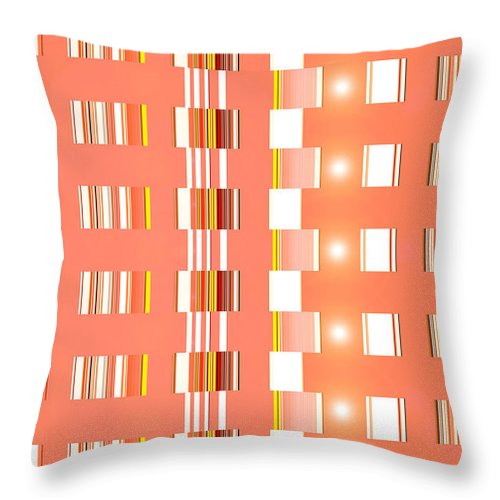 Moveonart! Digital Gallery Throw Pillow featuring the digital art Moveonart Orange Interactive Spiritual Solutions by Jacob Kanduch
