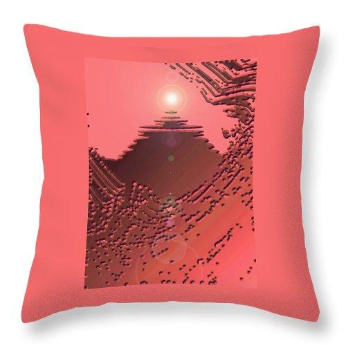 Moveonart! Digital Gallery Throw Pillow featuring the digital art Moveonart Orange Memories Four by Jacob Kanduch