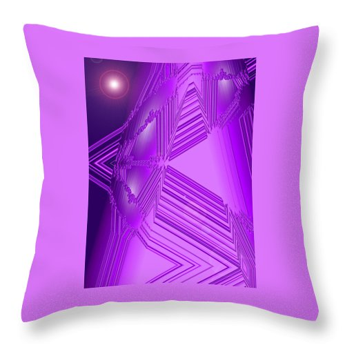 Moveonart! Digital Gallery Throw Pillow featuring the digital art Moveonart Other Worlds One by Jacob Kanduch