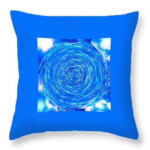 Moveonart! Digital Gallery Throw Pillow featuring the digital art MoveOnArt Peace Renewal Planet Earth by Jacob Kanduch