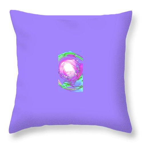 Moveonart! Digital Gallery Throw Pillow featuring the digital art Moveonart Peacefully Focus by Jacob Kanduch