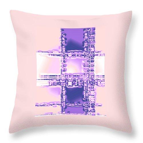 Moveonart! Digital Gallery Throw Pillow featuring the digital art Moveonart Plan To Be A City Man by Jacob Kanduch