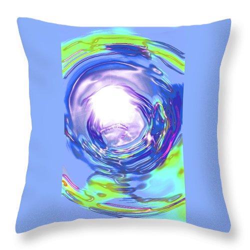 Moveonart! Digital Gallery Throw Pillow featuring the digital art Moveonart Reassurance by Jacob Kanduch