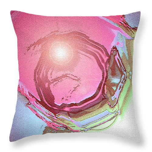 Moveonart! Digital Gallery Throw Pillow featuring the digital art MoveOnArt Renewing Mind Clear Thought Therapy  Red by Jacob Kanduch