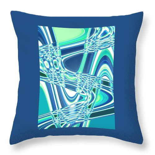 Moveonart! Digital Gallery Throw Pillow featuring the digital art Moveonart Sharing Our Strength by Jacob Kanduch