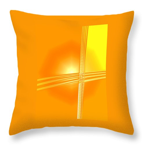Moveonart! Digital Gallery Throw Pillow featuring the digital art Moveonart Shift In Time One by Jacob Kanduch