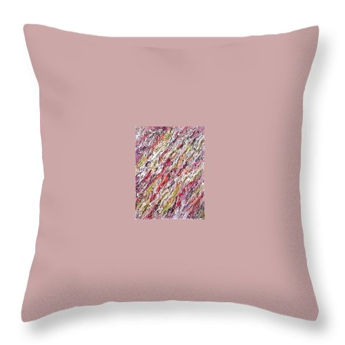 Moveonart! Digital Gallery Throw Pillow featuring the painting Moveonart St Clare Hotel Room by Jacob Kanduch