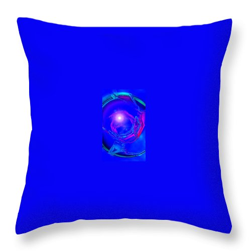 Moveonart! Digital Gallery Throw Pillow featuring the digital art Moveonart Telepathic People Planet Earth by Jacob Kanduch