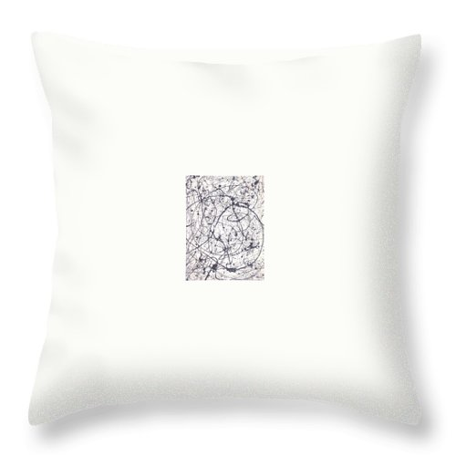 Moveonart! Digital Gallery Throw Pillow featuring the painting Moveonart Texture And Soul 1 by Jacob Kanduch