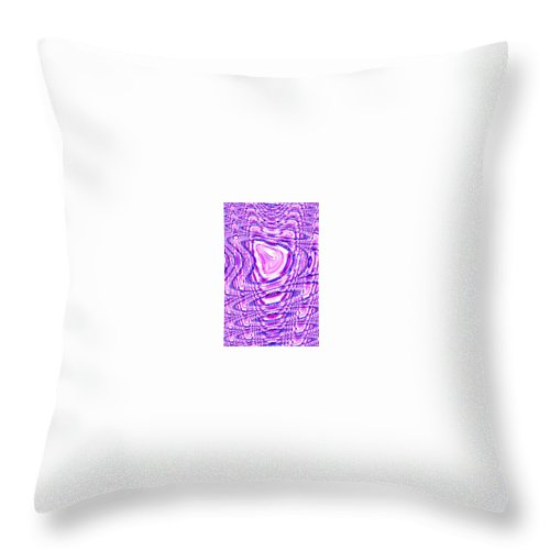 Moveonart! Digital Gallery Throw Pillow featuring the digital art Moveonart The Art Shall Speak by Jacob Kanduch
