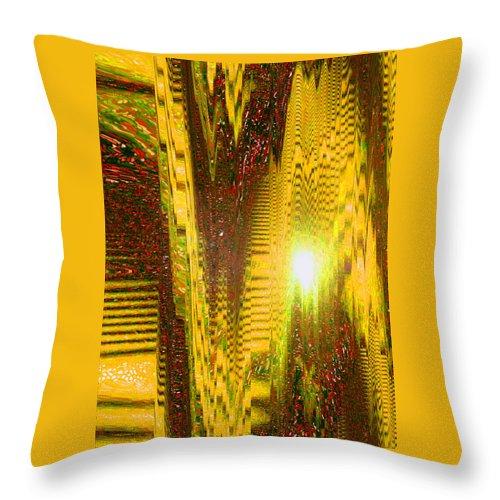 Moveonart! Digital Gallery Throw Pillow featuring the digital art Moveonart The Light Shall Speak by Jacob Kanduch