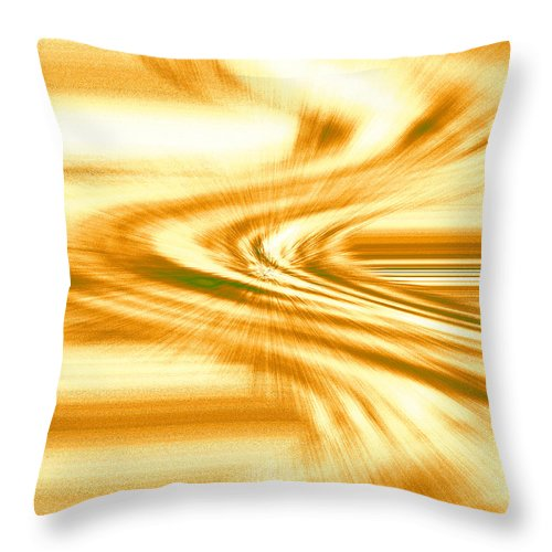 Moveonart! Digital Gallery Throw Pillow featuring the digital art Moveonart They Say The Streets Are Paved With Gold by Jacob Kanduch