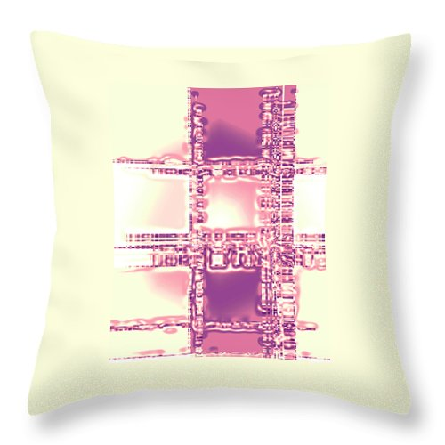 Moveonart! Digital Gallery Throw Pillow featuring the digital art Moveonart Thoughtful Intersections by Jacob Kanduch