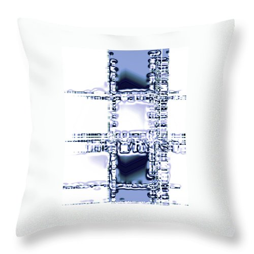 Moveonart! Digital Gallery Throw Pillow featuring the digital art Moveonart Time To Think by Jacob Kanduch