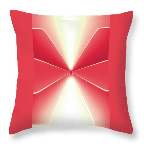 Moveonart! Digital Gallery Lower Nob Hill San Francisco California Jacob Kanduch Throw Pillow featuring the digital art Moveonart Turn Our Light Up 3 by Jacob Kanduch