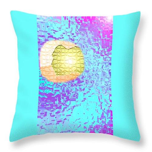 Moveonart! Digital Gallery Throw Pillow featuring the digital art Moveonart Urban Light Worker by Jacob Kanduch
