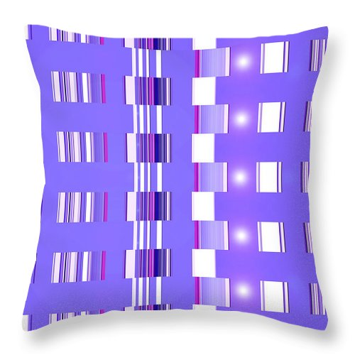 Moveonart! Digital Gallery Throw Pillow featuring the digital art Moveonart Violet Interactive Spiritual Solutions by Jacob Kanduch