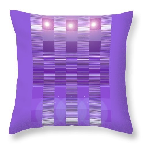 Moveonart! Digital Gallery Throw Pillow featuring the digital art Moveonart Violet Program Two by Jacob Kanduch